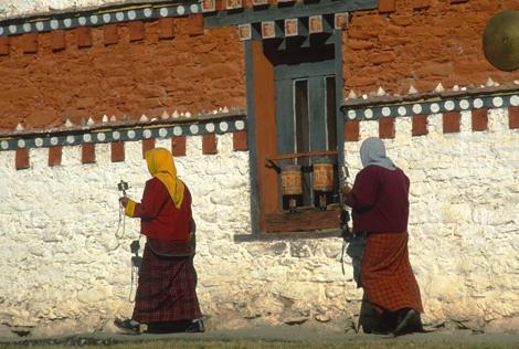 Bhutan_TURNINGPRAYERWHEEL2