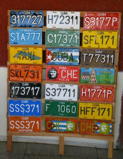 cuba-170-Sample-license-plates,-including-Che