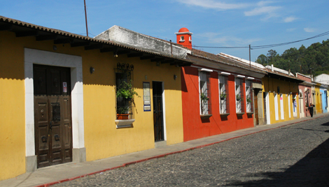 guatemala-388 Colorful buildings in Antigua