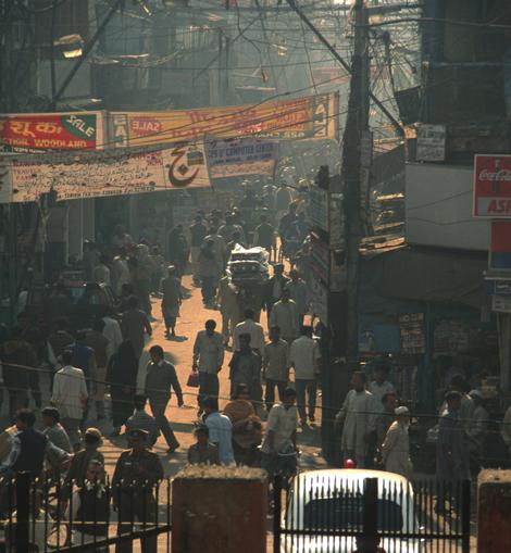 India_chocked_Delhi_streets