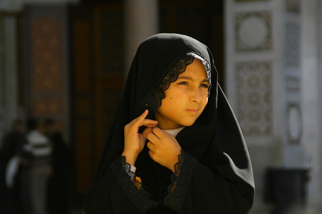 Girl at Umayyad Mosque